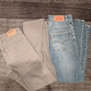 2 pairs of Levis jeans sz. 12 boys